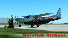 Maverick Airlines Cessna 208b Grand Caravan EX Livery Image Flight Simulator 2020