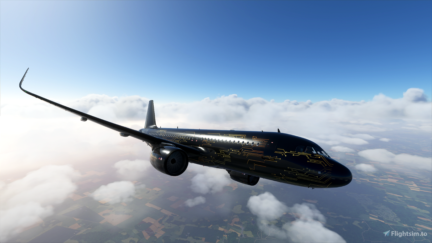 Sci-Fi A320 Neo Drag And Drop Edition (4K Livery) Image Flight Simulator 2020