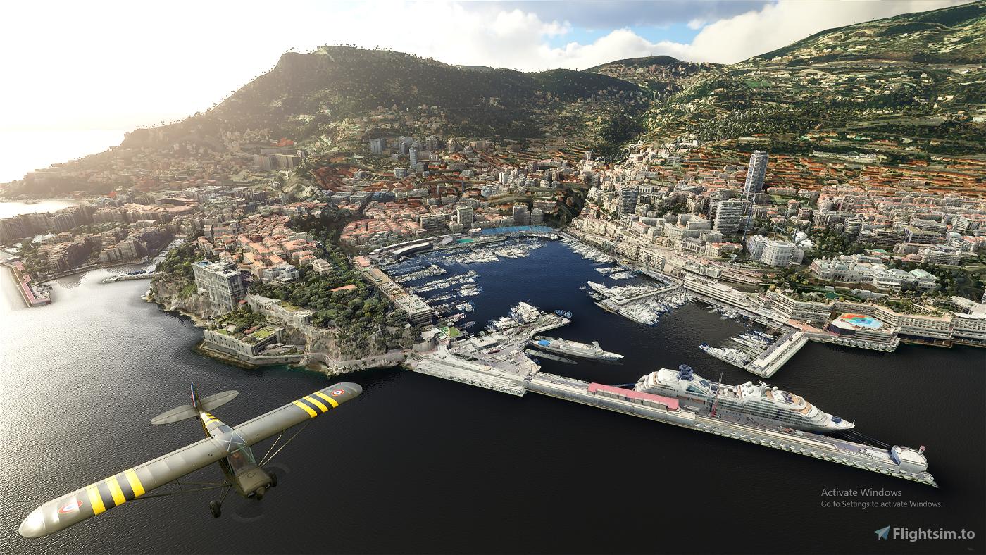 Monte Carlo (French Riviera) Microsoft Flight Simulator