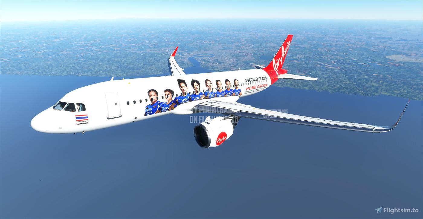 Thai AirAsia Women's Volleyball Team 2013 Flight Simulator 2020