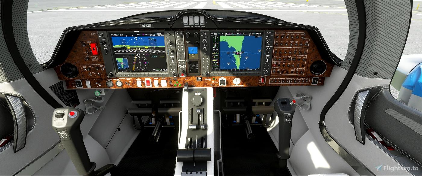Diamond DA 62 Panel Image Flight Simulator 2020