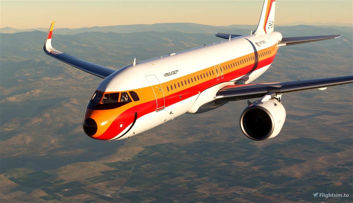 PSA Retro A320neo [4K livery] Flight Simulator 2020