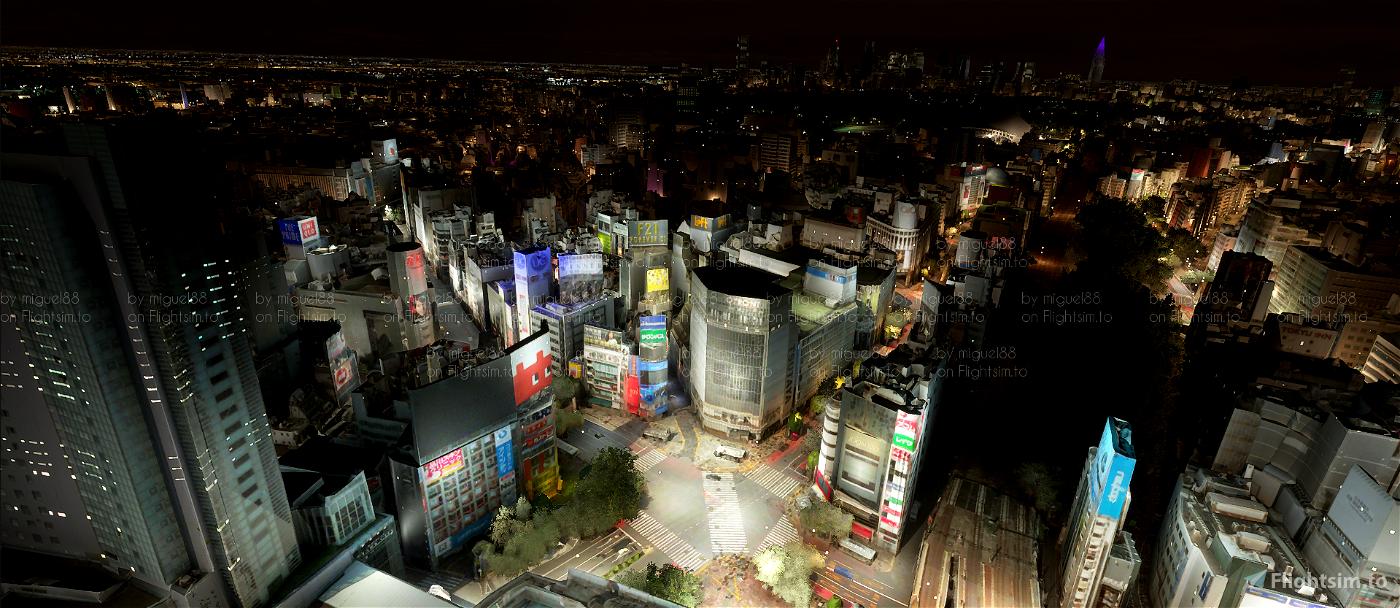 Tokyo Yokohama Nightlights Microsoft Flight Simulator