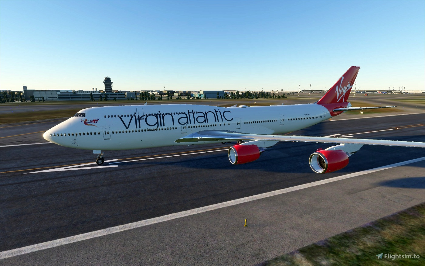Boeing 747-8 Virgin Atlantic Flight Simulator 2020