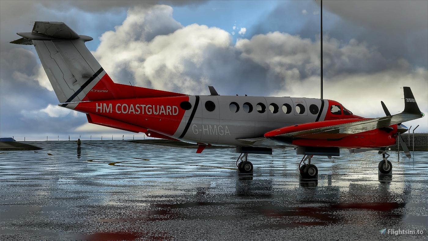 Beechcraft King Air350 HM CoastGuard Flight Simulator 2020