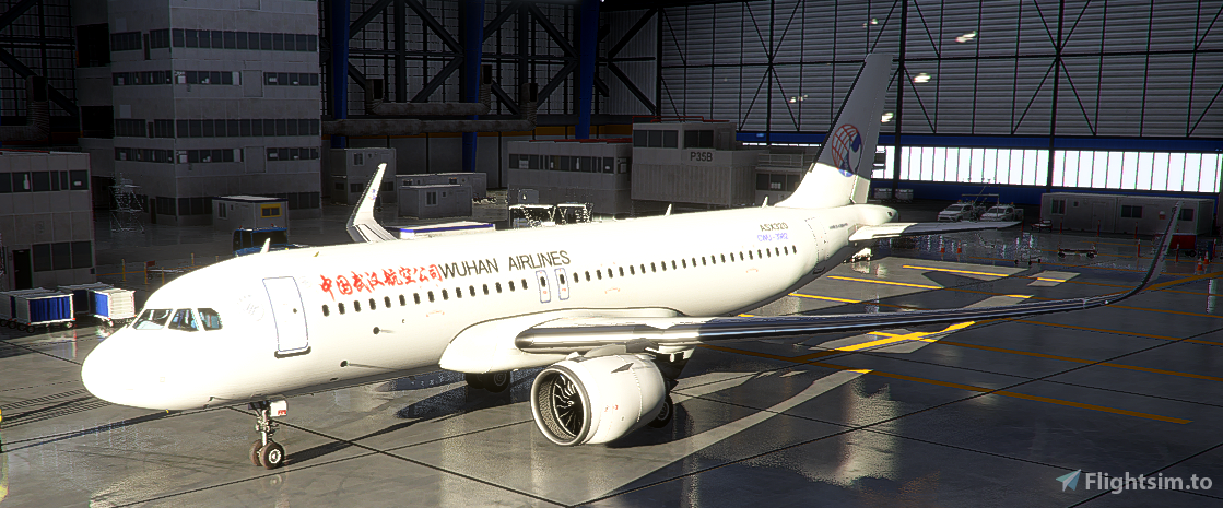 China Wuhan Airlines A320neo Flight Simulator 2020