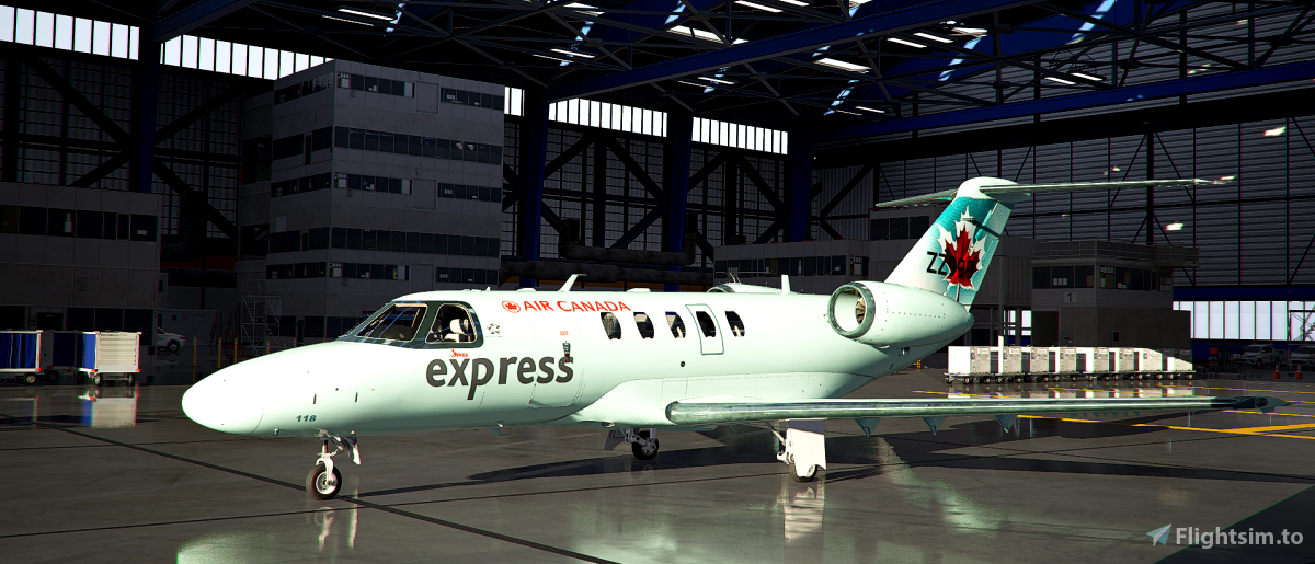 Cessna Citation CJ4 Air Canada Express Ice Blue (old)