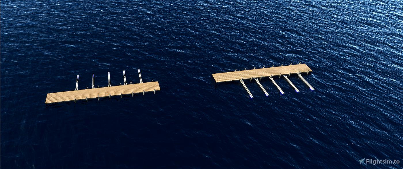 Pier Models - Blender/MSFS