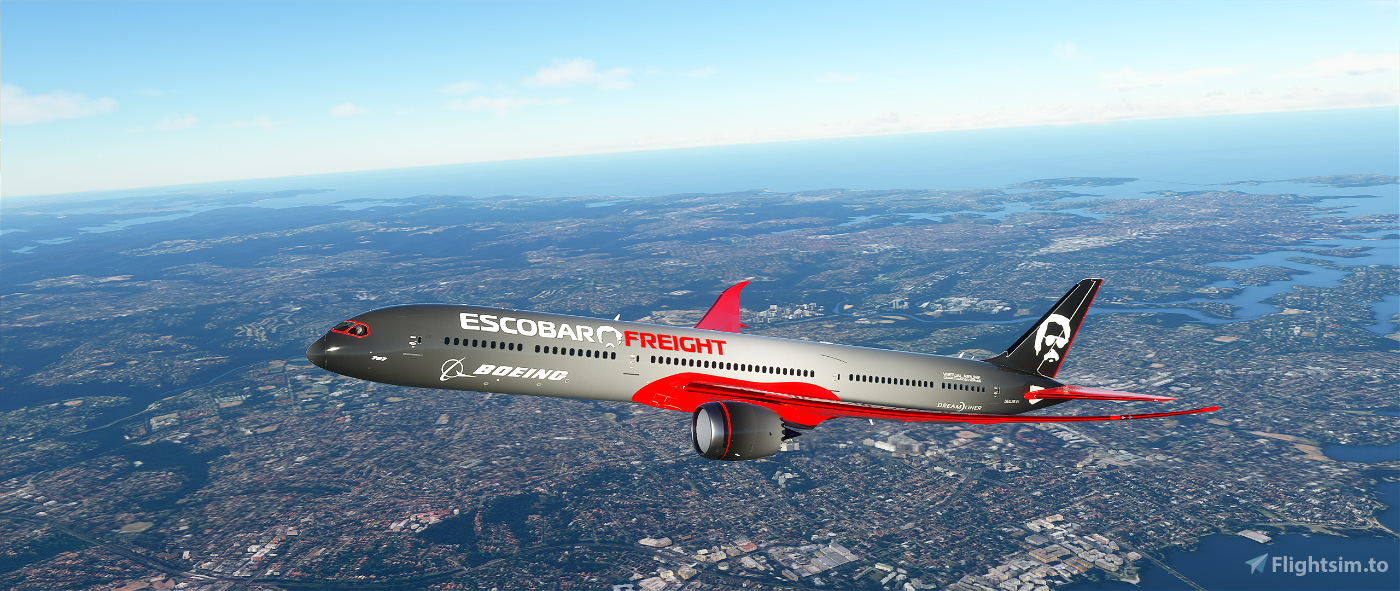 Boeing 787-10 Escobar Freight Livery with bonus Halloween Livery