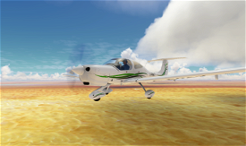 Diamond DA40 White-Green Image Flight Simulator 2020