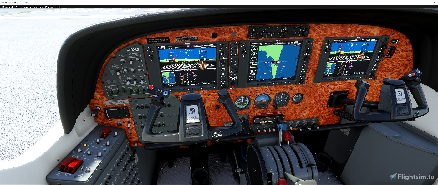 Cessna C 208 Grand Caravan panel file Flight Simulator 2020