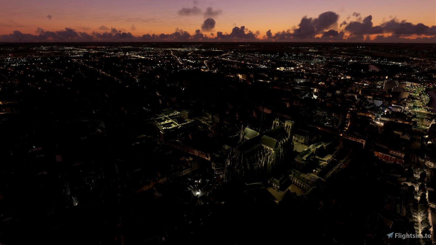 Amiens City, France Image Flight Simulator 2020