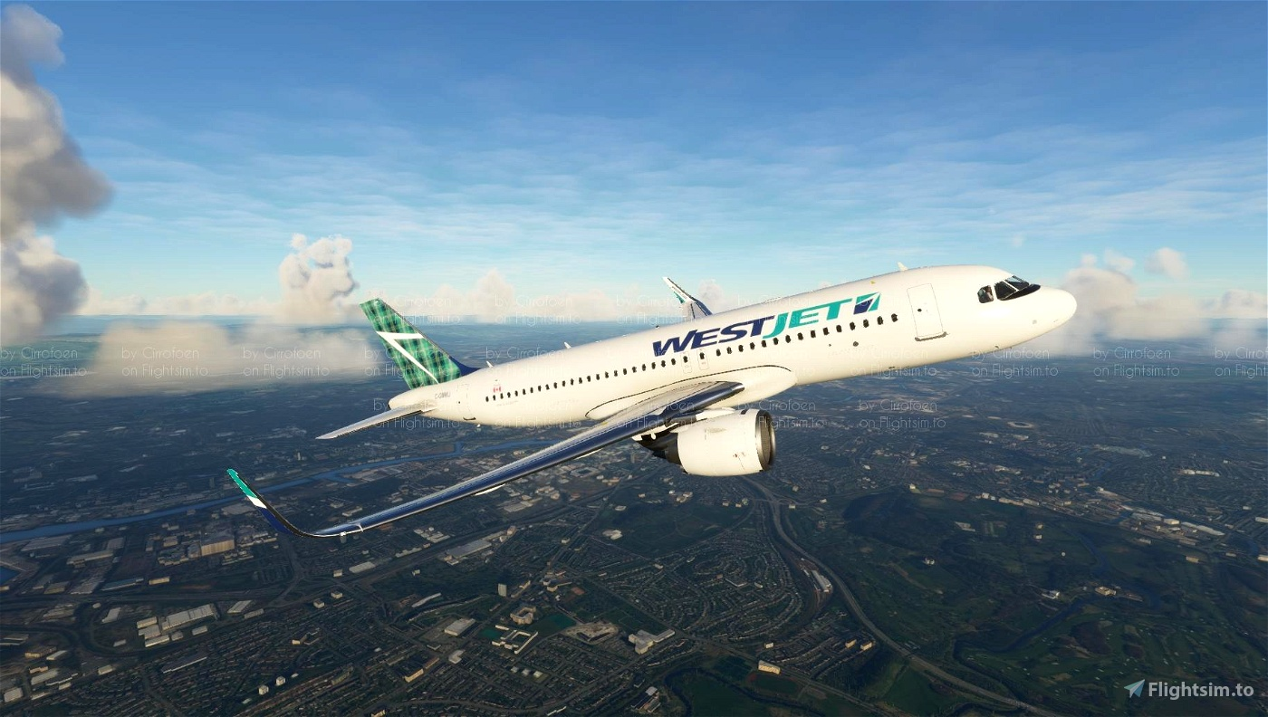 WestJet Tartan Tail (4K) Flight Simulator 2020