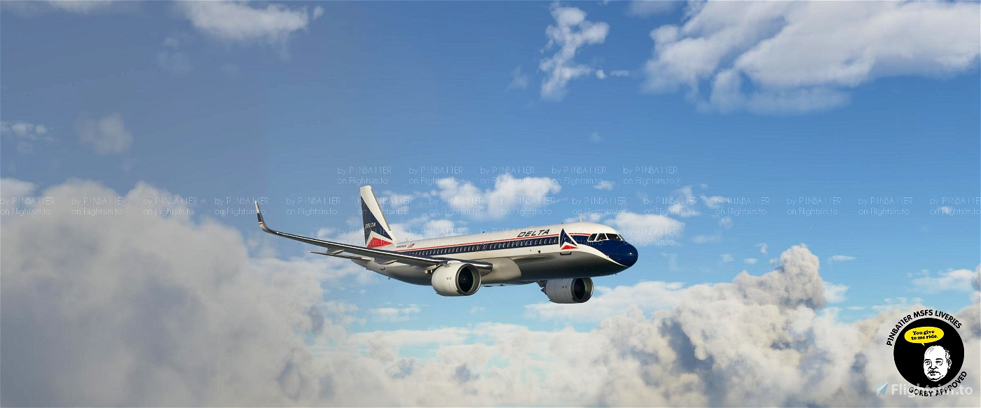Delta Widget Retro A320 Neo [4K livery]