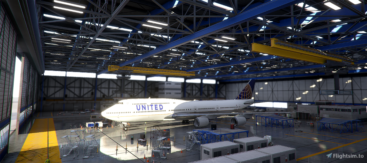 United Airlines 747-8i Flight Simulator 2020