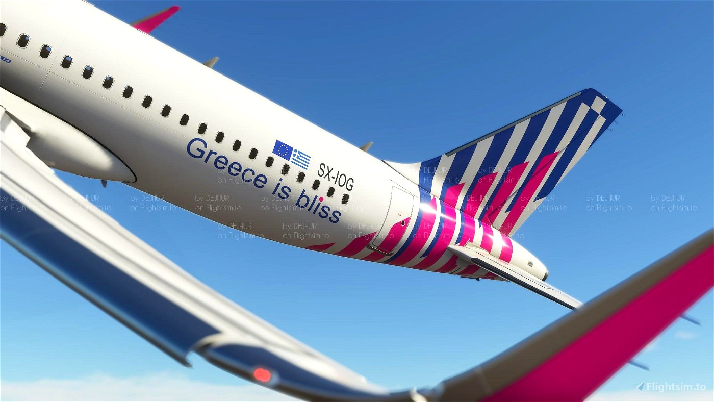 Sky Express ( upcoming livery for A320 Neo) (4K)[SX-IOG]