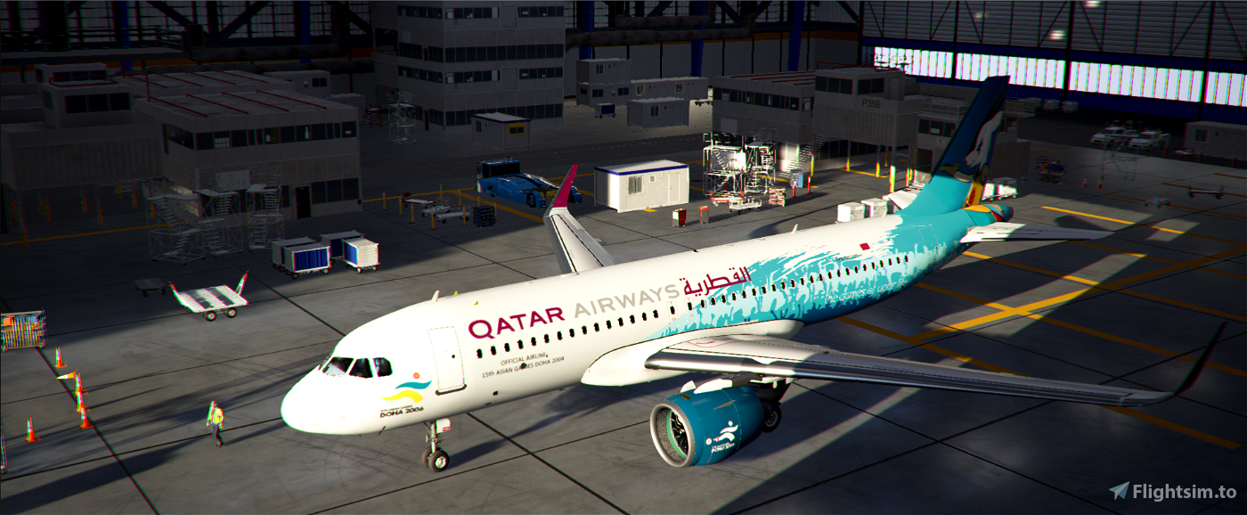 A320neo Qatar Airways 15th Asian Games