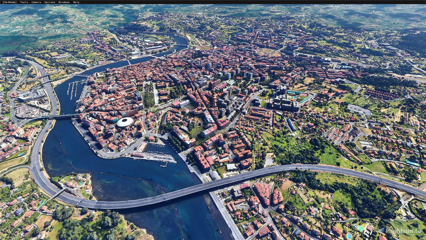 Pontevedra city,Spain Image Flight Simulator 2020