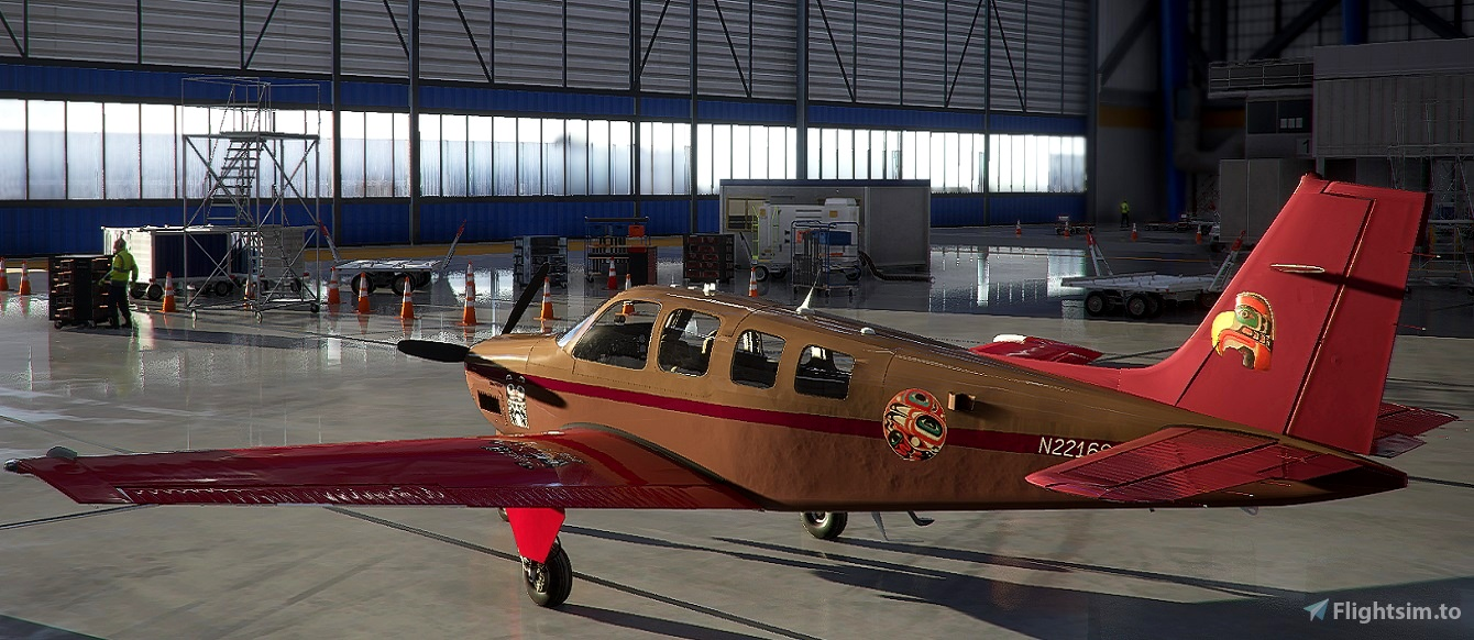 Bonanza G36 N22168 CS-Willapa Flight Simulator 2020