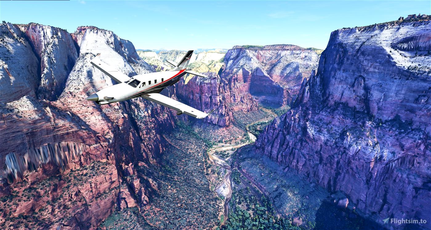 Zion Canyon National Park, Utah Flight Simulator 2020