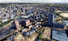 Leeds City Centre Photogrammetry, England Image Flight Simulator 2020