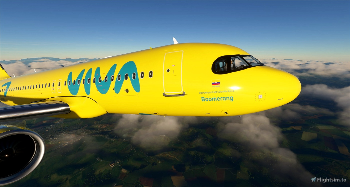 Viva Air Colombia - New 'Boomerang' Livery - 8K