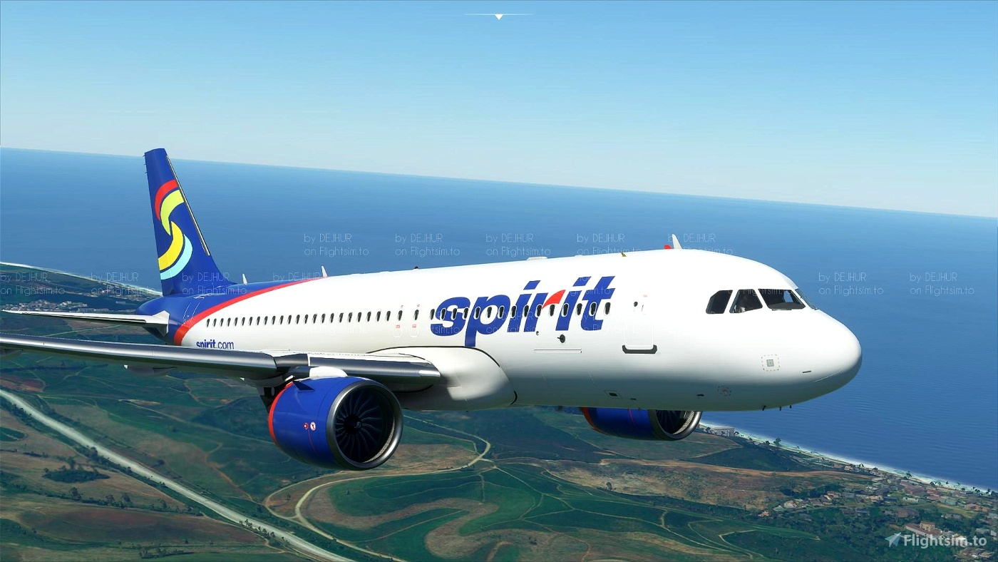 Spirit Airlines (Old Livery)[4K](Update fix)
