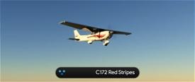 C172 G1000 Red Stripes 4K Image Flight Simulator 2020