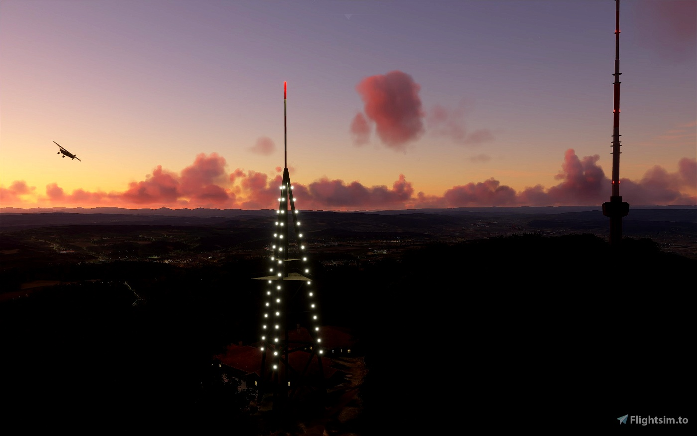 Uetliberg TV Tower and Lookout Tower Zurich/Zürich / Switzerland Image Flight Simulator 2020