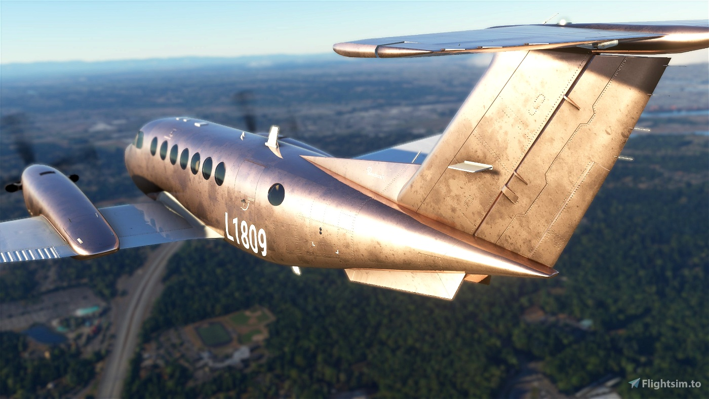 Lincoln Penny: A textured metallic tutorial livery with layered PSDs included Flight Simulator 2020