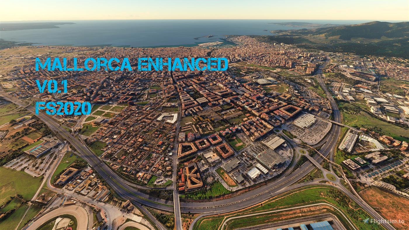 Mallorca Enhanced 0.1 Flight Simulator 2020