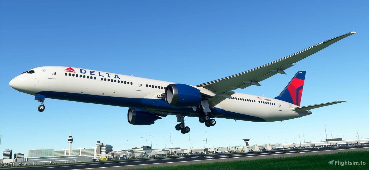 B787-10 Delta Airlines Flight Simulator 2020
