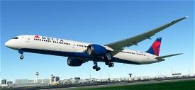 B787-10 Delta Airlines Image Flight Simulator 2020