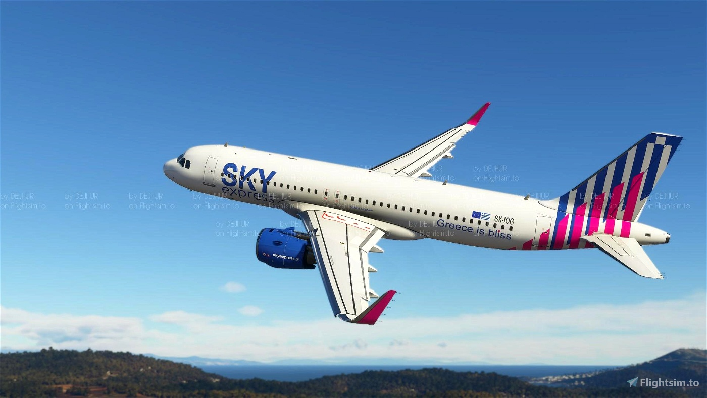 Sky Express ( upcoming livery for A320 Neo) (4K)[SX-IOG] Flight Simulator 2020