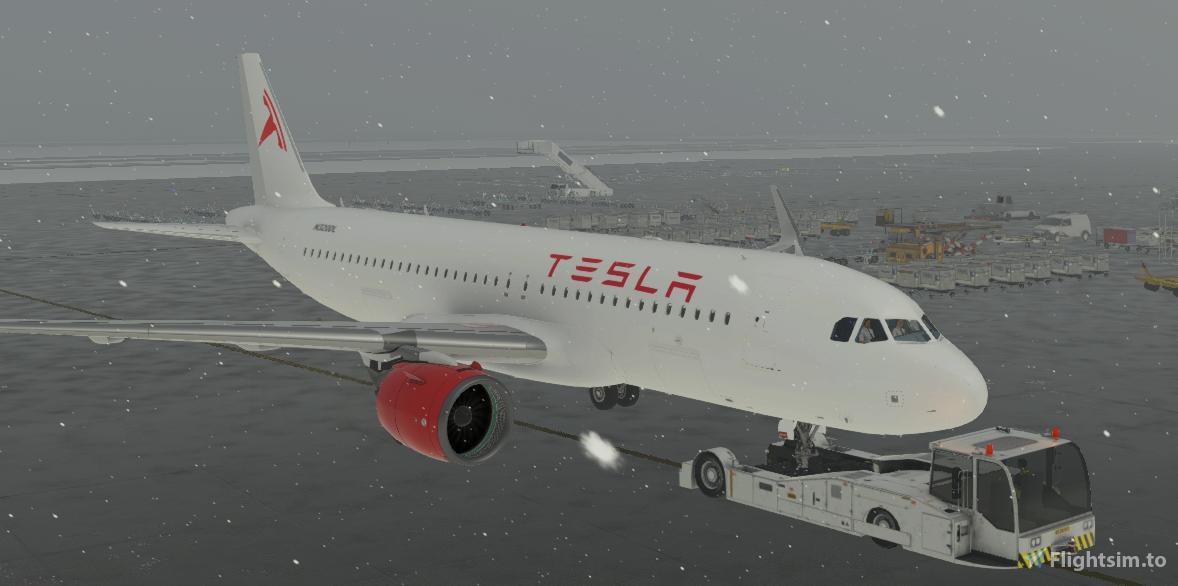 Tesla A320neo Livery  Flight Simulator 2020