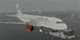 Tesla A320neo Livery  Image Flight Simulator 2020
