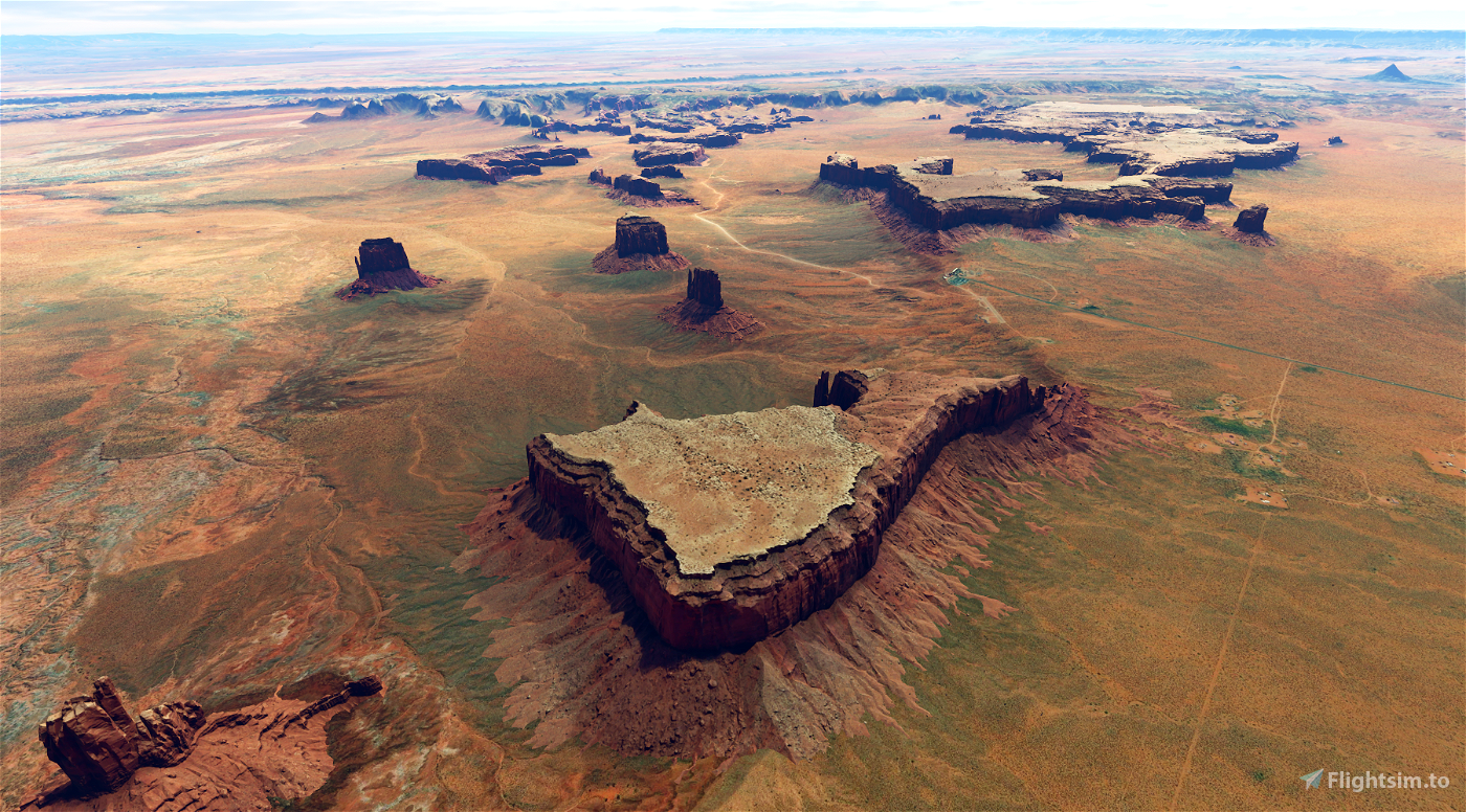 Monument Valley, Arizona-Utah border v2.0 Image Flight Simulator 2020