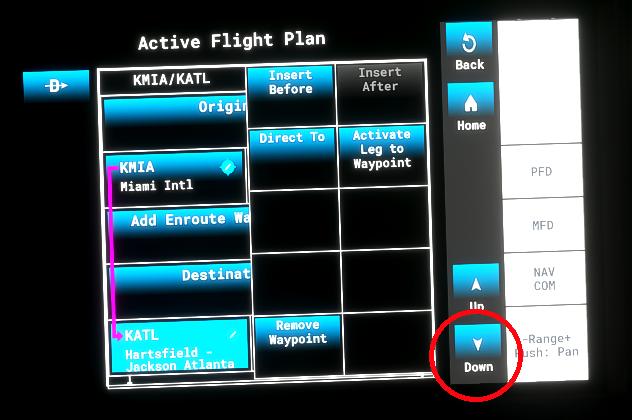 Fix TBM-930 MFD Freeze When Scrolling Down in the Flight Plan Flight Simulator 2020