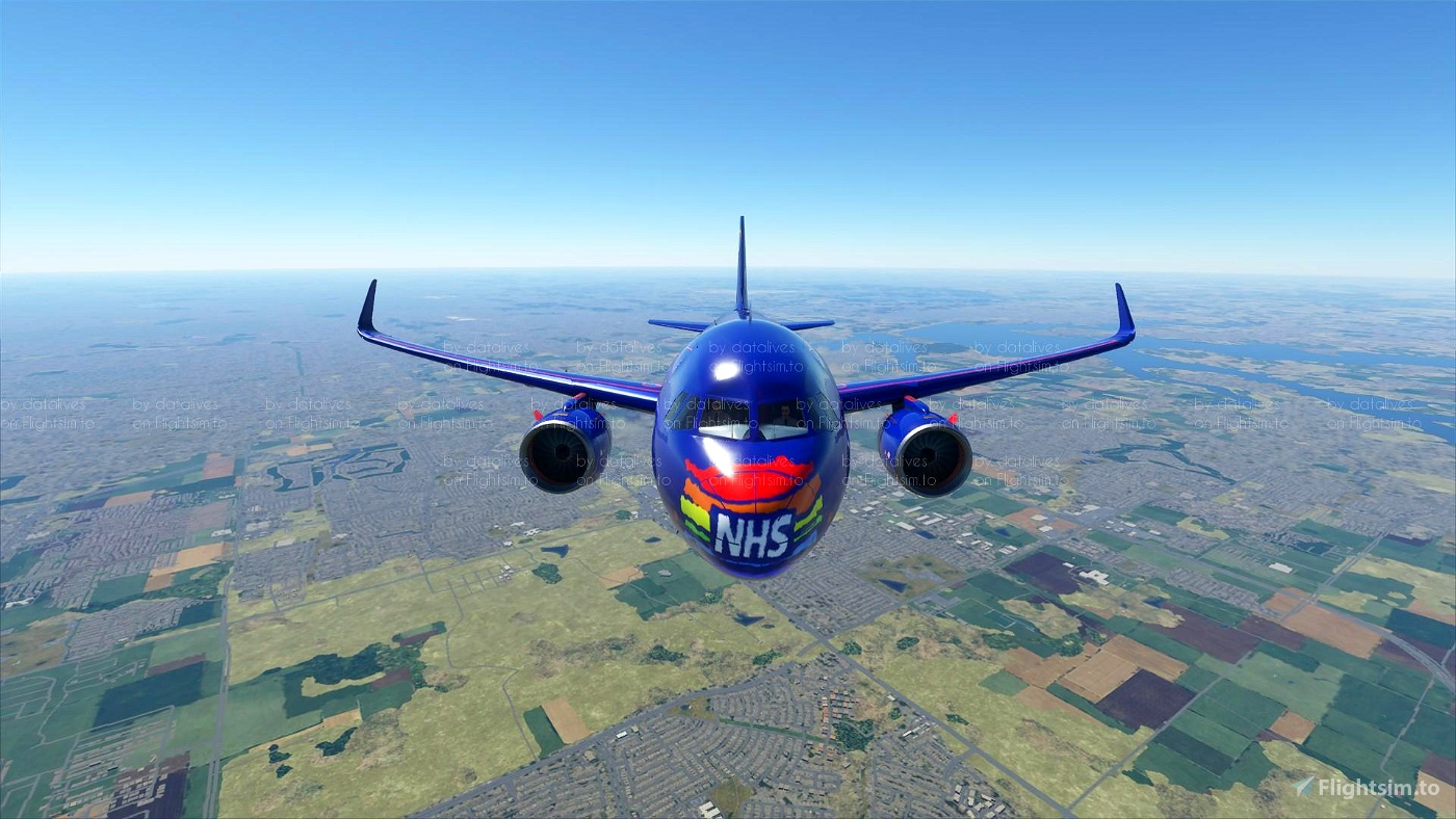 NHS Thank You Skin Flight Simulator 2020