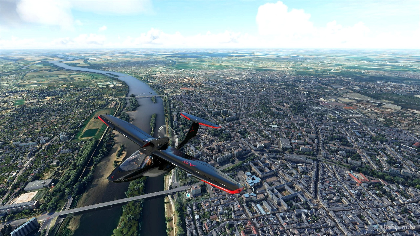 Orléans City, France Image Flight Simulator 2020