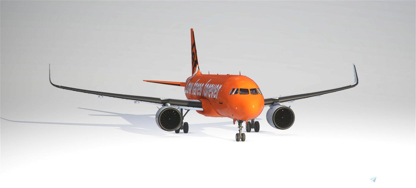 A320 Jaffa Jet/The Carrot Normal Wings (4K Livery) Flight Simulator 2020