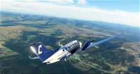 Above Alaska Aviation King Air 350 Image Flight Simulator 2020