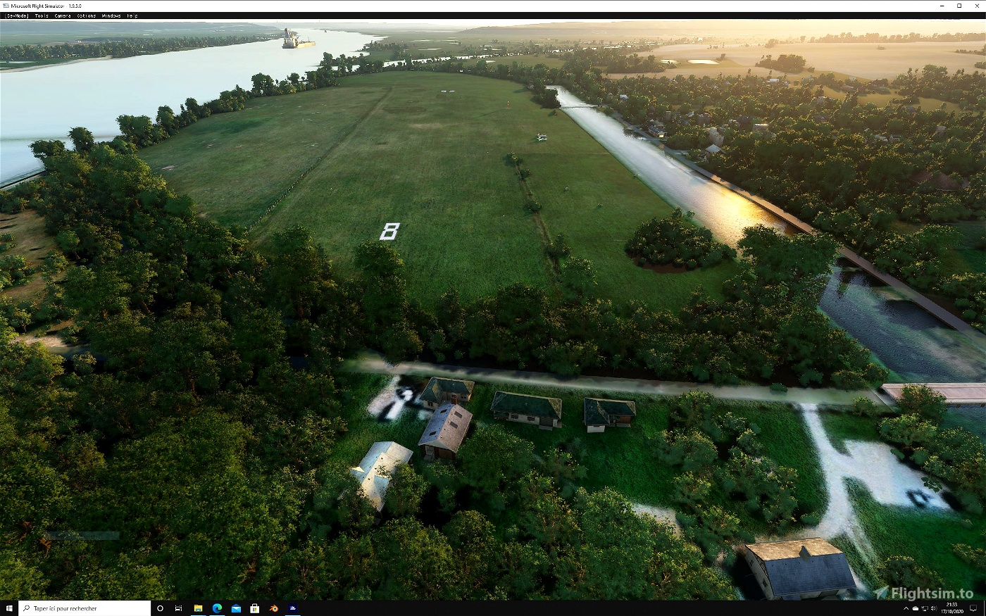 LF2722 Base ULM BERVILLE Image Flight Simulator 2020