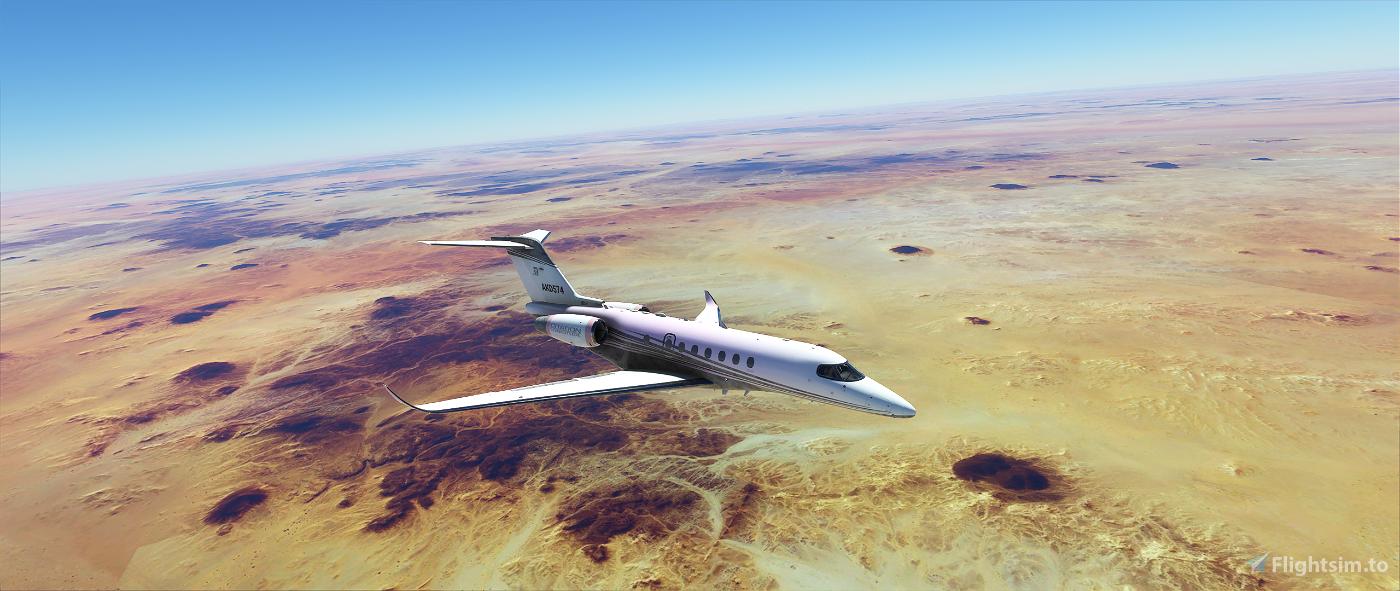 Cessna longitude White Damascus Flight Simulator 2020