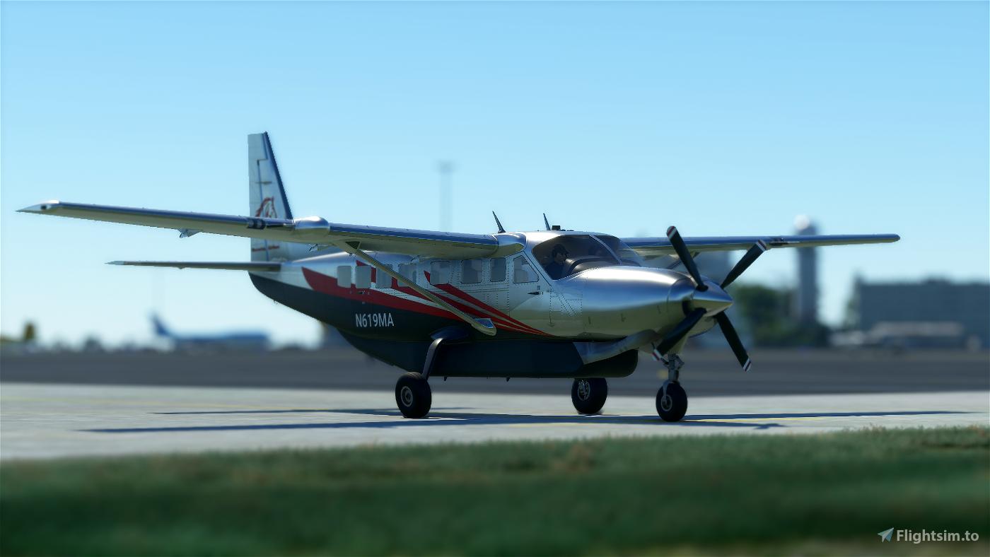 Maverick Airlines Cessna 208b Grand Caravan EX Livery Image Flight Simulator 2020