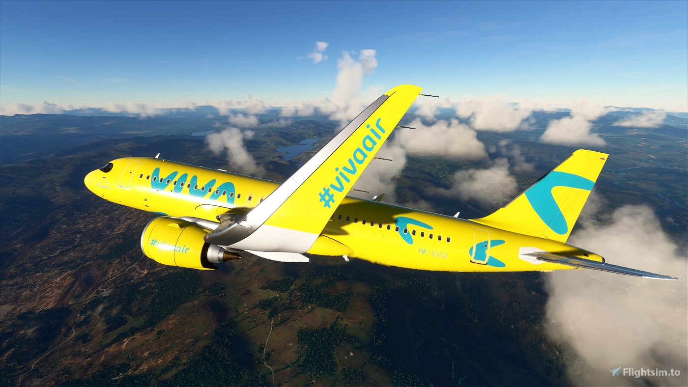 Viva Air Colombia - New 'Boomerang' Livery - 8K Flight Simulator 2020