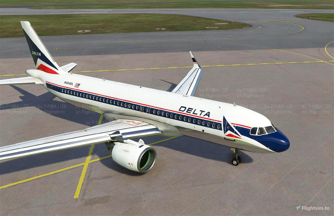Delta Widget Retro A320 Neo [4K livery] Flight Simulator 2020
