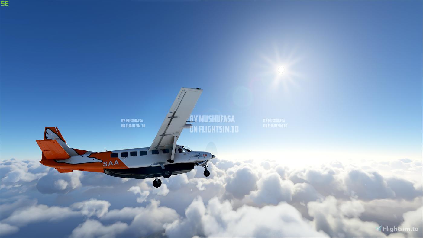 C208B Sounds Air ZK-SAA (4K) Flight Simulator 2020