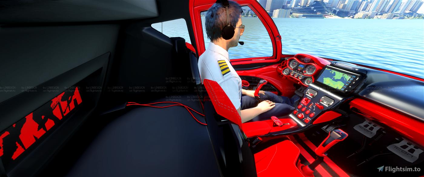 AKIRA ICON A5 + cockpit red & black