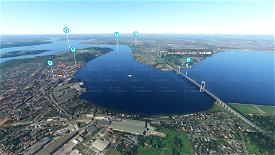 Little Belt Bridges + Landmarks Microsoft Flight Simulator